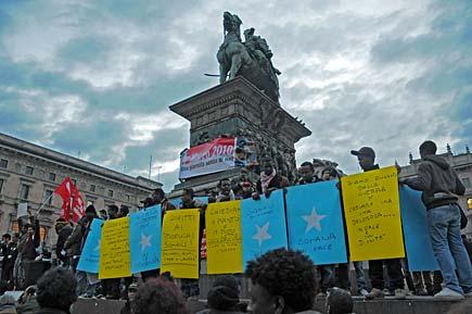 Primo Marzo 2010, sciopero degli Stranieri - Milano
