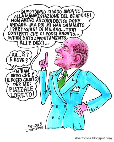 25 aprile vignetta berlusconi