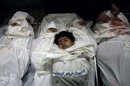 bambini di gaza uccisi dai bombardamenti israeliani