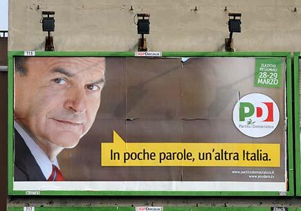 Manifesto elettorale di Bersani