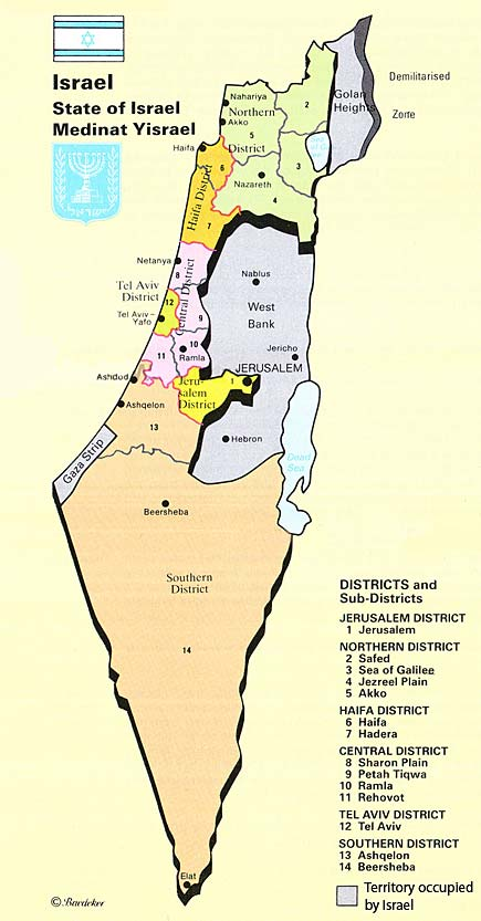 Cartina di Israele