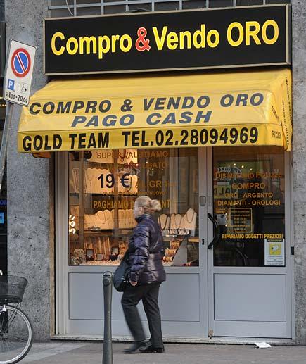 Compro oro - Negozio