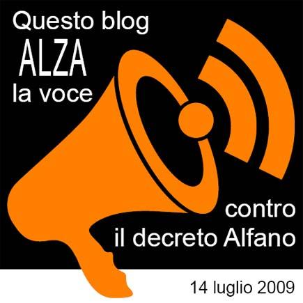 banner contro il decreto Alfano