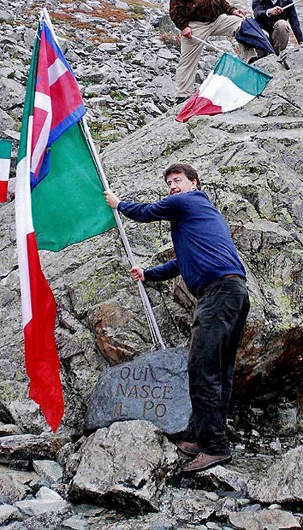 Dario Franceschini alla sorgente del Po
