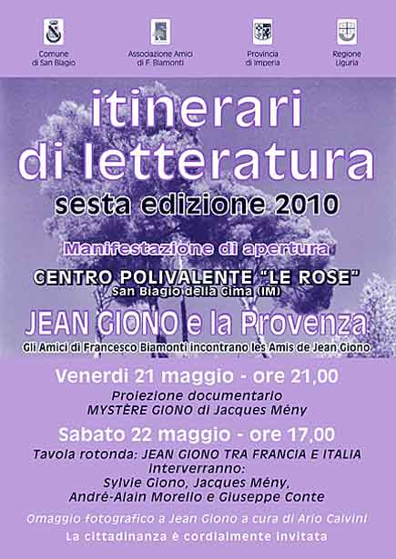 Itinerari di letteratura 2010
