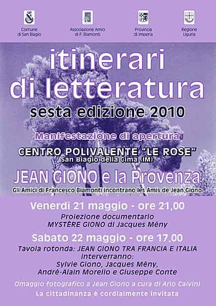 Itinerari di letteratura 2010