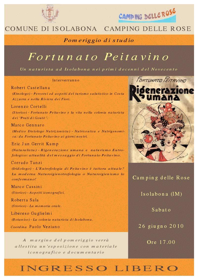Fortunato Peitavino - Convegno