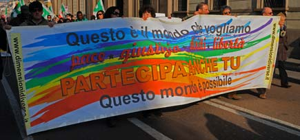 Milano - Manifestazione contro il pacchetto sicurezza del governo