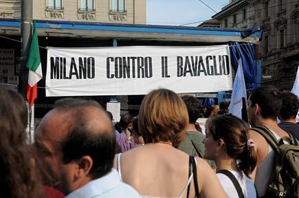 No Bavaglio Day - 1° luglio 2010 - Milano, foto