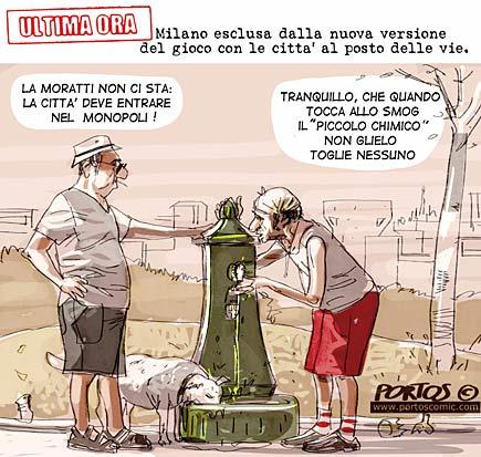 Vignetta sulla Moratti e il Monopoli
