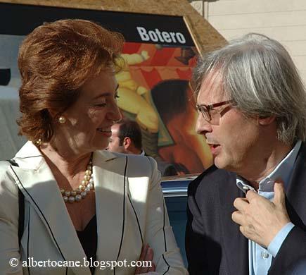 Letizia Moratti e Vittorio Sgarbi