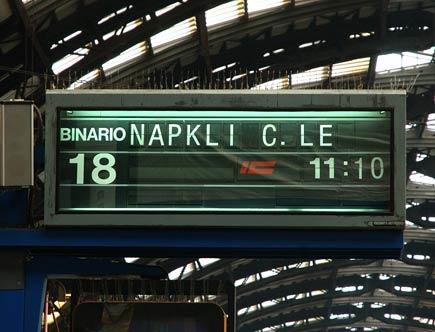 tabellone errato stazione centrale milano