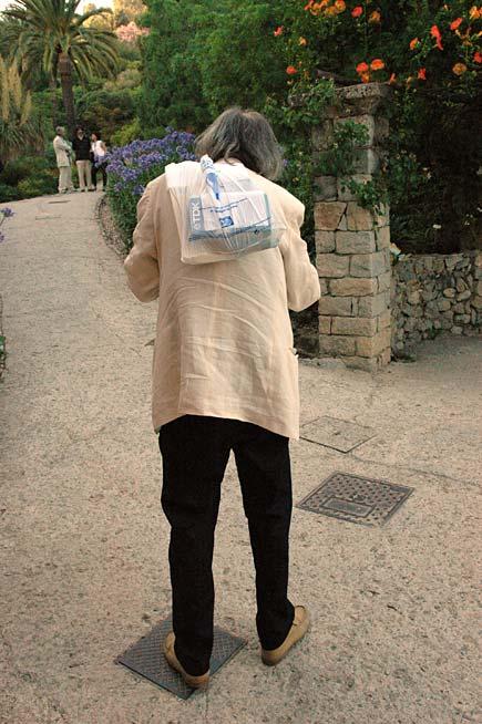 Nico Orengo ai giardini Hanbury
