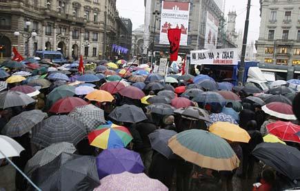 Milano - Manifestazione contro la via dedicata a Craxi