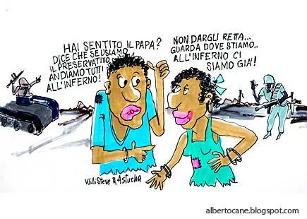 vignetta su papa e preservativi - WilliSteve & Astucha
