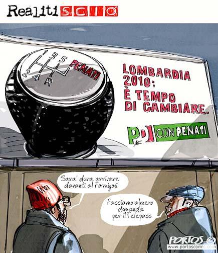 Penati, elezioni regionali, vignetta