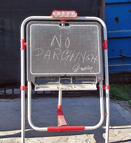 Scritta no parking