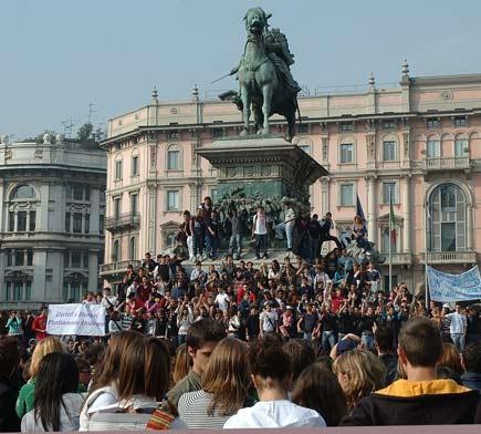Studenti in sciopero a Milano
