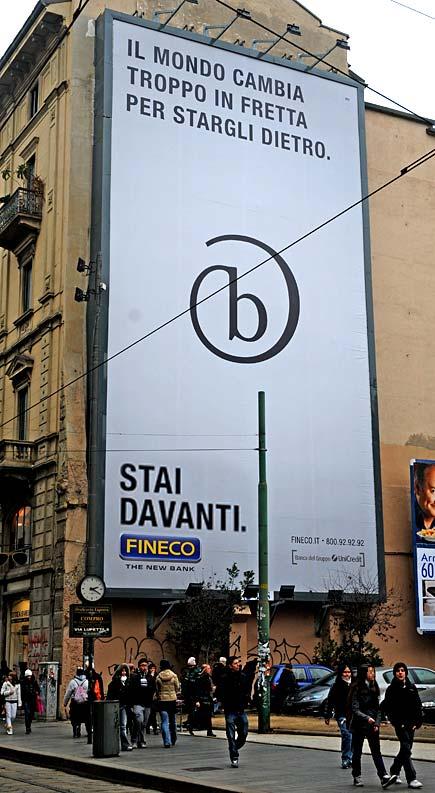 Tabellone Fineco - Milano, via Torino