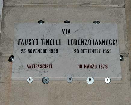 targa Fausto Iaio