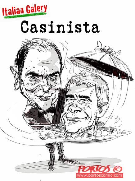 Vignetta cena Bruno Vespa