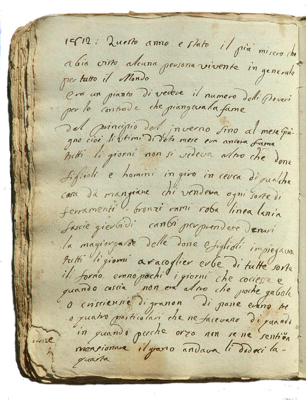 Pagina del manoscritto di Gio Antonio Cane